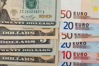 Zapłacić rachunek Europe Business banknotów stopy pieniędzy usa