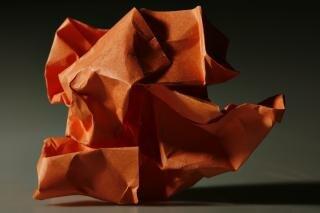 Zmięty papier, obiekt