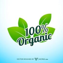100% Garantía Orgánica Label
