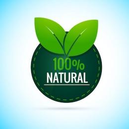 100% Natural Etiqueta Redonda