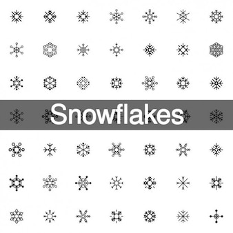 200 copos de nieve icono formas