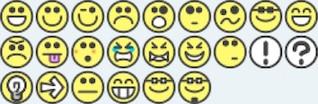 24 sonrisa plana emoción caritas iconos emoticonos, por ejemplo, a los foros