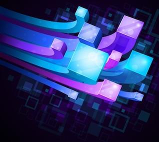 3D Cables coloridos de Antecedentes y Resumen