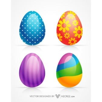 3D huevos decorados Pascua