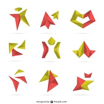 Colección de logotipos en 3D