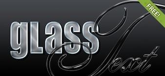 4 Free Glass Photoshop Estilos