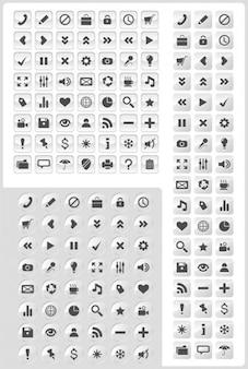 50 + set de iconos de vidrio