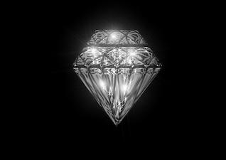 Diseño quilate cristal piedra clara joya objeto