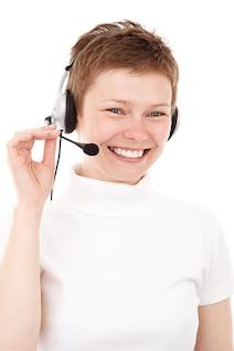 llamada del cliente comunicación business center agente