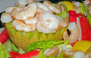 bocadillos de camarones comida de mar temporadas almuerzo de mariscos