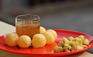 rápido indio golgpa gupchup chatarra comida panipuri