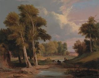 Pintura o connor arte de la lona del aceite del paisaje james