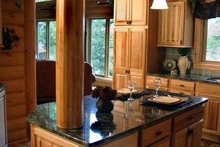 Encimera de mármol registro vasos cocina casera de vino