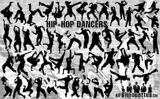 bailarines de hip hop todas las siluetas