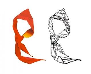 pioneros logotipo de jóvenes - un material bufanda vector rojo