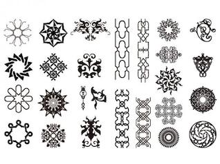 ir Chupin medios tendencia vector material set15-arabesco