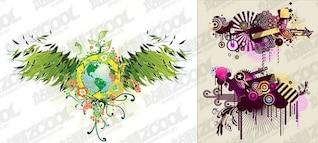 2, la tendencia de material de diseño vectorial elementos
