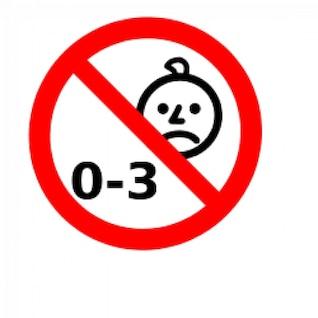 no es adecuado para niños con edad 0-3