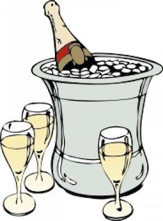 champán en el hielo