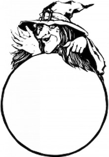 bruja con bola de cristal