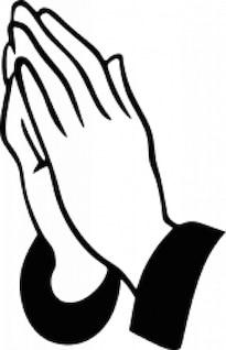 orando las manos