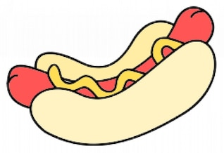 hot dog - color