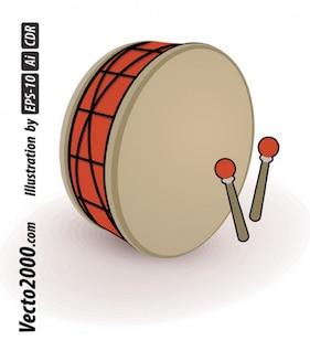 tambor sencillo mejor vector para los diseños de los elementos Ramadán o Eid