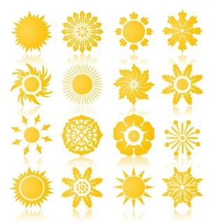 símbolos del sol o un conjunto de vectores iconos de colección