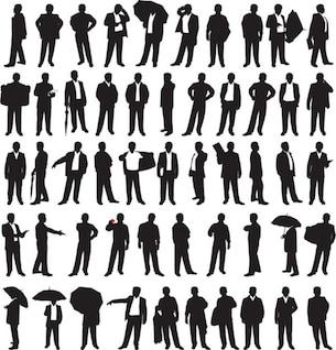 hombres de negocios siluetas.
