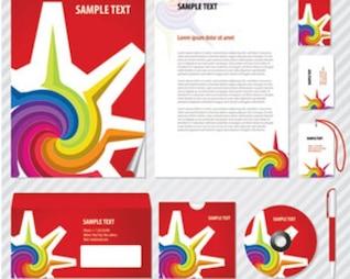 ilustraciones de valores de identidad corporativa de colores