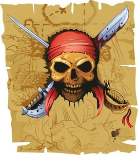 ilustraciones de acciones de piratas del vector