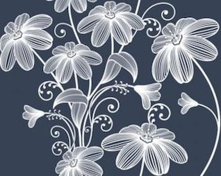 acciones ilustración vectorial: fondo floral sin fisuras