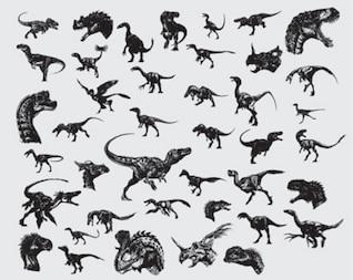 dinosaurios paquete de vectores