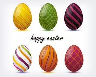 conjunto de huevos de Pascua