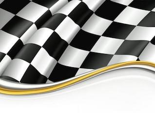 Carreras de la bandera de vectores
