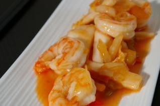 asiático receta del camarón, las dietas