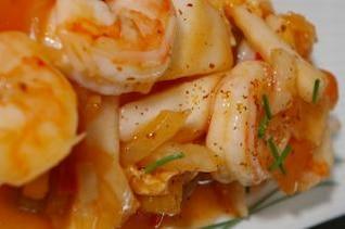 asiático receta de camarones, camarones
