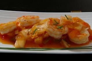 receta del camarón asiático