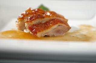 carne de pato con salsa de