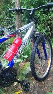 bicicleta de radio en el parque de Roberts, los equipos