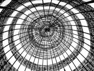 bambú en la construcción abstracta