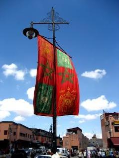 bandera marroquí