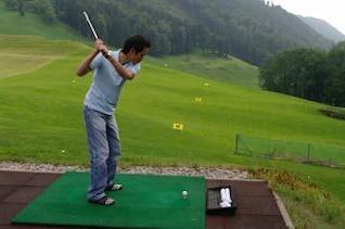 jugador practicar el golf, la actividad
