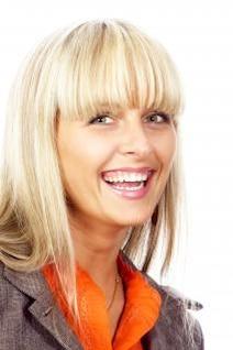 hermosa muchacha riendo