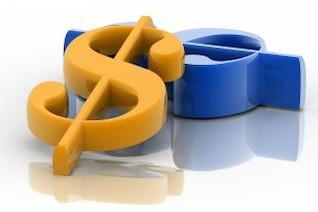 signo de dólar, el oro