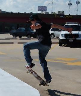 patinador de skate