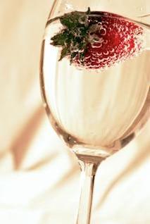 de fresa en vidrio