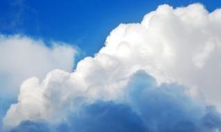 Nubes, escena