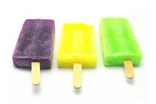 de hielo de crema de caramelo, primer plano