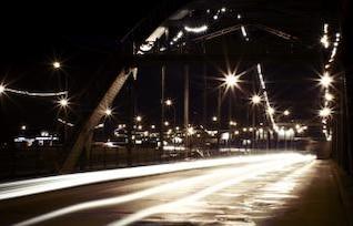 puente de la escena nocturna